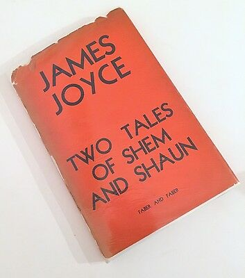 Two Tales of SHEM and Shaun James JOYCE 1st ed. 1932 faber VG+ in scarce jacket