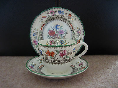 LOVELY COPELAND SPODE TRIO - CHINESE ROSE PATTERN - ART DECO - c1938