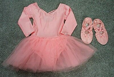 Girls ballet tutu leotard and dance shoes size 7-8 years