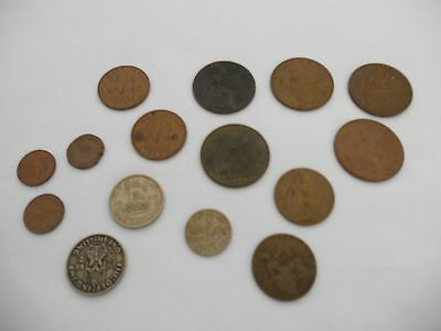 Collectable Coins Bundle Of Old Pennies, Half Pennies Mixure