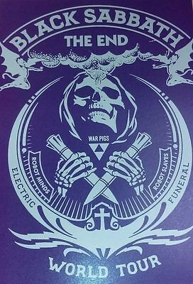 Black Sabbath - The End US Tour Poster by Shepard Fairey (Ozzy Ozbourne)