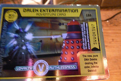 Dalek Extermination-Doctor Who Adventure Rare  Trading Card 155