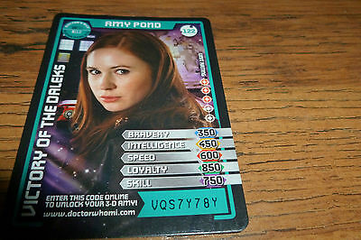 Doctor Who-Monster Invasion Trading Card-Amy Pond -Super Rare 3D