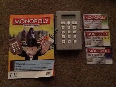 MONOPOLY ELECTRONIC BANKING UNIT,  - BANKING UNIT & CREDIT CARDS,card 1,2 & 4