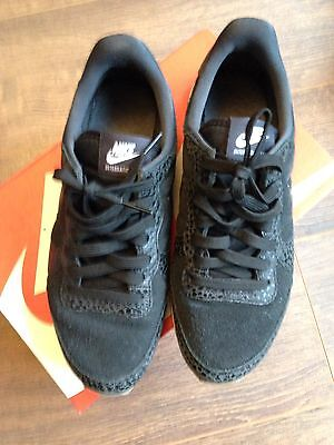 Baskets Sneakers Nike Internationalist Cuir Noir 37,5 Très Bon État
