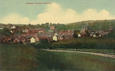 Llanelly Felinfoel Village Early View C1920 Postcard