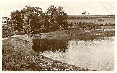 Llanelly Furnace Pond C1950 Whs&s Real Photo Postcard