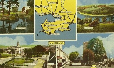 Llanelly Multiview Showing Map The Church Old Car Town Hall Square Park Howard S