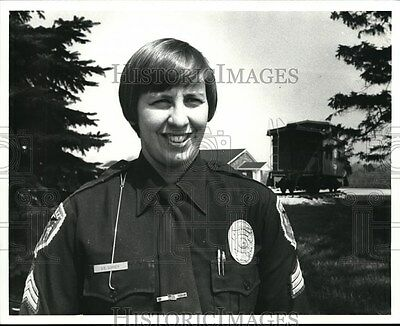 1980 Press Photo Sgt. Donna Corey Perry Police Department.