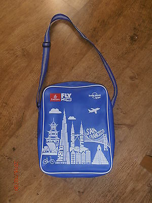 Vintage NWOT Emirates Airlines Kids Travel Bag Tote Fly With Me Souvenir - MINT