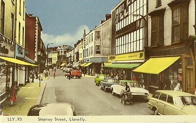 Llanelly Stepney Street Old Cars Parked C1970 Frith #lly95 Postcard