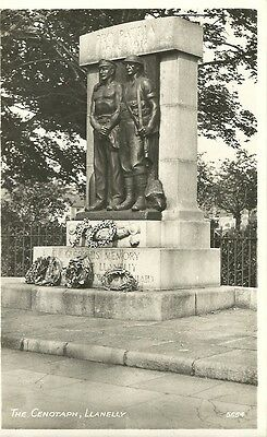 Llanelly The Cenotaph  R.a. Series Real Photo C1950 Postcard