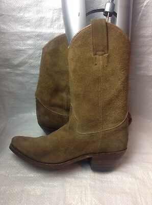 Ladies Cowboy Boots Size 2.5 Brown Leather