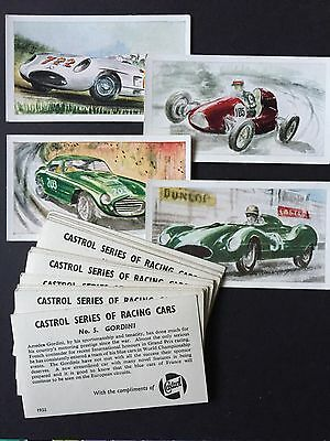 Cigarette Cards & Collectables **Castrol Racing Cars, 20 Different Cards**