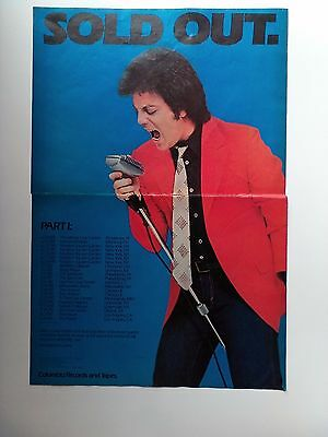 "BILLY JOEL ""SOLD OUT"" 1980 Original Promo Poster Ad"