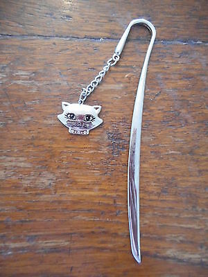 Silver Cat Charm Bookmark BRAND NEW Gift