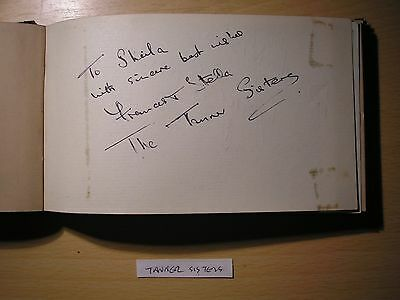 The Tanner Sisters & Gerry Brereton - Original Hand-Signed Album Page