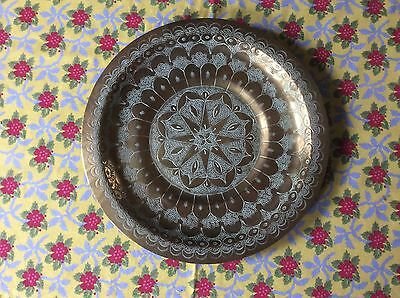Vintage Brass Wall Plaque/Tray