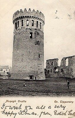 NENAGH CASTLE CO. TIPPERARY IRELAND IRISH POSTCARD by LAWRENCE POSTED 1905