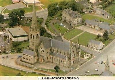 ST. EUNAN'S CATHEDRAL LETTERKENNY DONEGAL IRELAND POSTCARD by A.S. GRAHAM