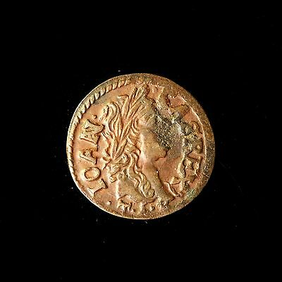 Poland Copper Solidus 1664 Extremely Fine