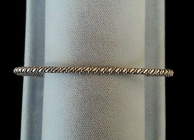 Sterling Silver Bracelet Hand Made Twisted Rope Native American Navajo IndianHS