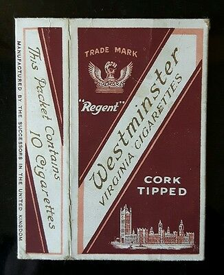 Old cigarette packet hull Westminster Cork Tipped London