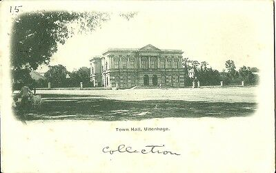 Uitenhage Town Hall Posted With Cape Of Good Hope 1D Stamp 1902 G.w.w. Udb Card