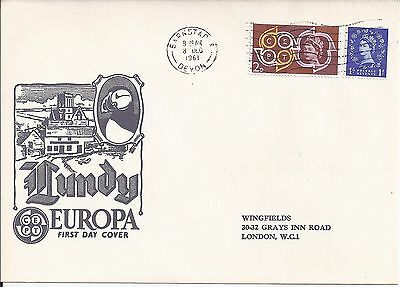1961 Lundy Island Illustrated cover Europa Millenary set  First Day Cover (1721)
