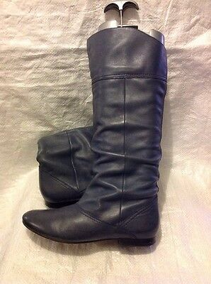 Schuh Ladies Boots Size 4 Grey Leather