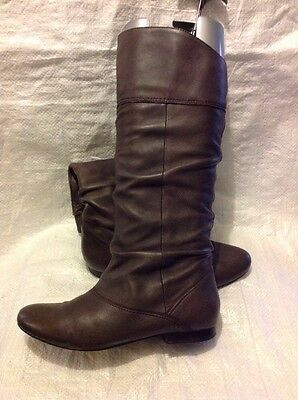Schuh Ladies Boots Size 4 Brown Leather