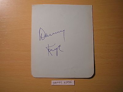 "Danny Kaye & ""hutch""  - Original Hand-Signed Album Page"