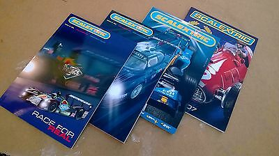 4x SCALEXTRIC CATALOGUES, SCALEXTRIC BROCHURES 2004 SCALECTRIC 2005 BOOKLET   FO