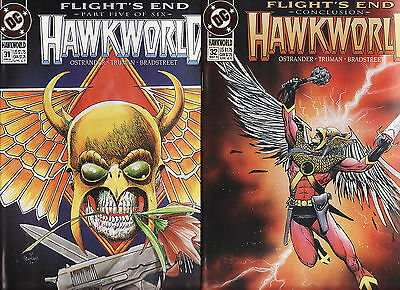 1993 Dc Hawkworld Flights End Issues 31 And 32 Issue 32 Is Concusion Of The Stor