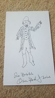 Signed Oliver Ford Davies Artwork Charity Auction Star Wars Sio Bibble