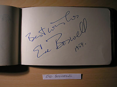 Eve Boswell - Original Hand-Signed Album Page