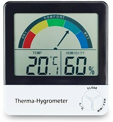 Healthy Living Thermometer and Hygrometer With Comfort Zone Indication
