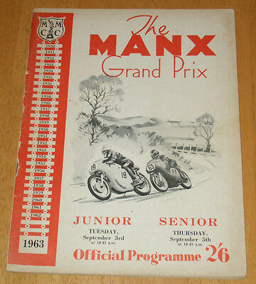 1963 Isle Of Man Manx Grand Prix Mgp Race Programme (Pages Missing)