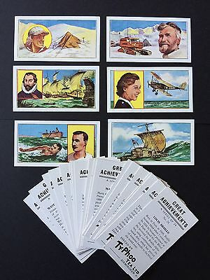 Cigarette Cards & Collectables **Typhoo Great Achievements, Set**