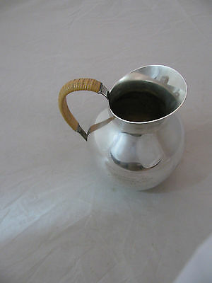 INTERNATIONAL STERLING SILVER WATER PITCHER STAMPED E107A with 1937 INSCRIPTION