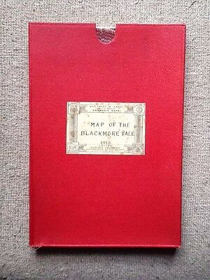 Map Of The Blackmore Vale - 1912 - Edward Stanford - With Case - Dorset