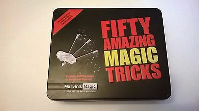 Marvin's Fifty Amazing Magic Tricks in a tin