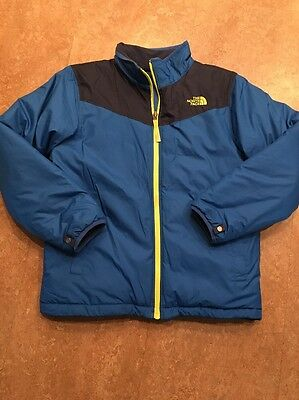 The North Face Boys Insulated Coat Jacket Sz 14/16  Blue