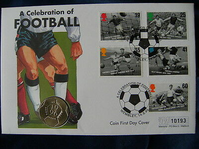 1996 Celerbration of Football £2 Coin First Day Cover