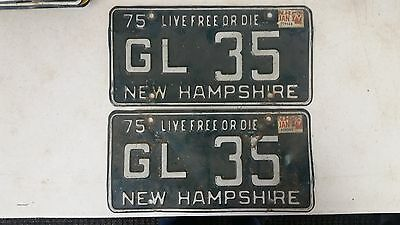 1979 NEW HAMPSHIRE Live Free or Die License Plate GL 35 Pair