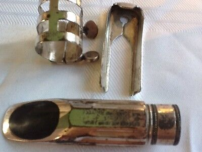 Vintage Selmer Metal Alto Sax Mouthpiece Silver Plated