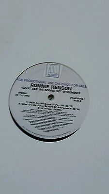 Ronnie Henson-What Are We Gonna Do-Motown Promo Vinyl 12''