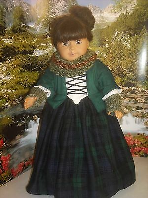 """American Girl 18"""" doll Outlander Claire Dress and Accessories"""