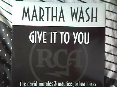 "MARTHA WASH give it to you 12"" 6 trk"