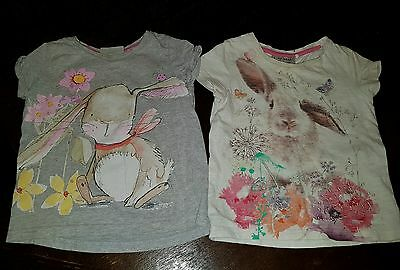 girls Next 12-18 months bunny t-shirts tops bundle easter summer clothes holiday